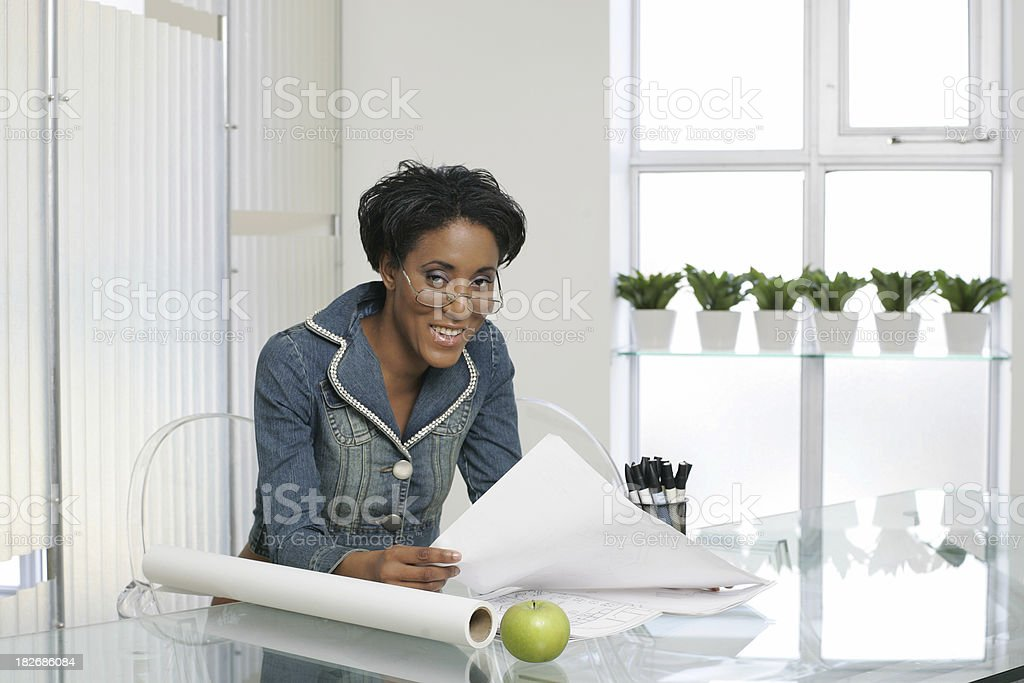 Lady in the office royalty-free stock photo