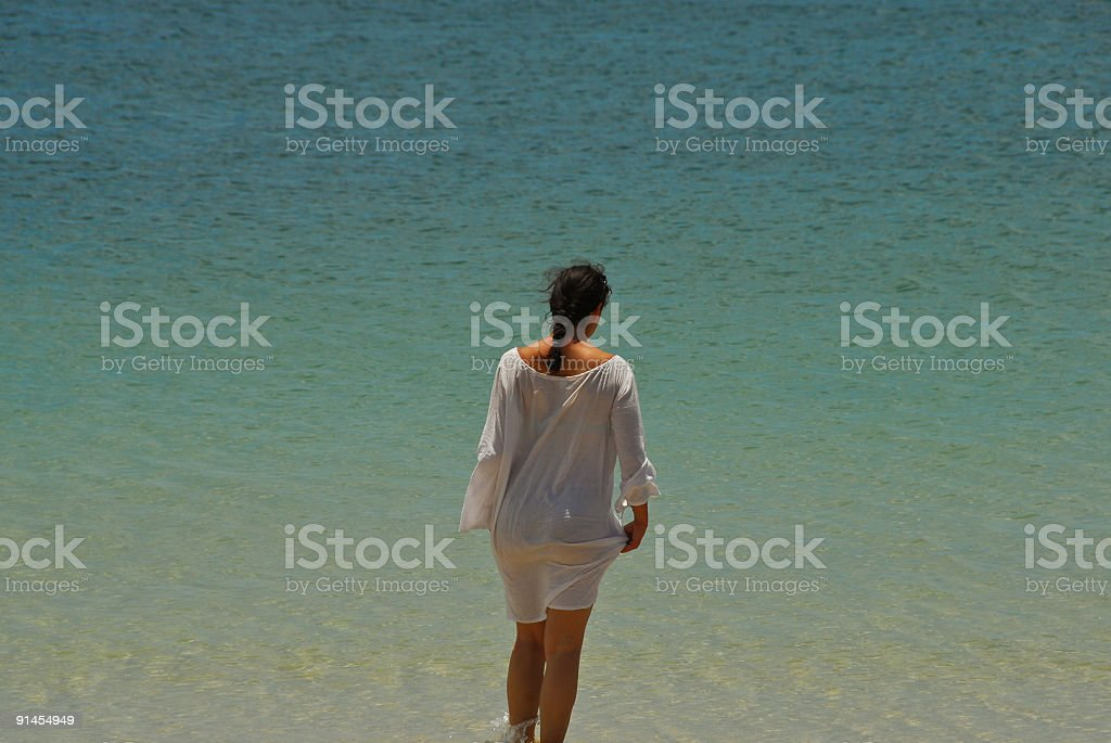 Lady in the Water royalty-free stock photo