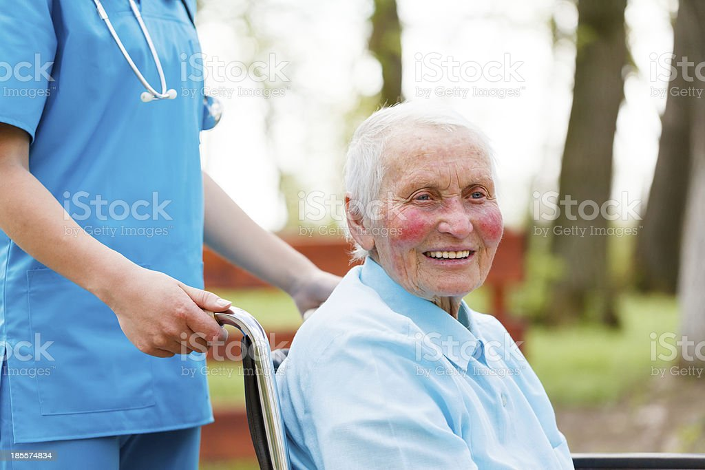 Lady in Wheelchair royalty-free stock photo
