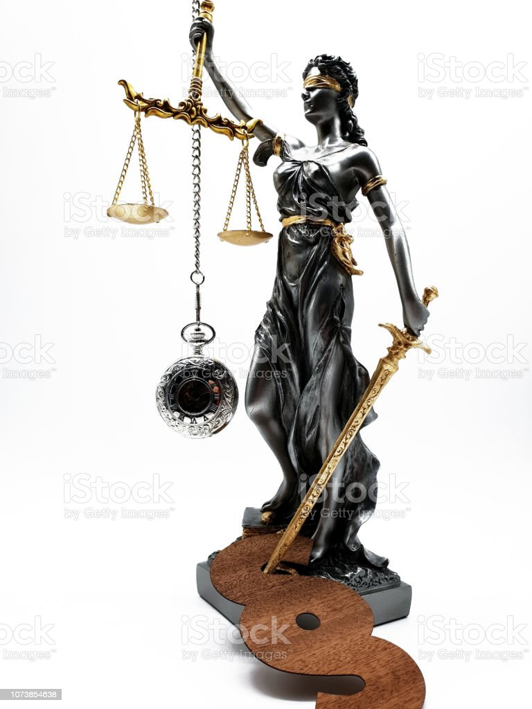 Lady Justica Symbol Of Law And Order Stock Photo - Download Image ...
