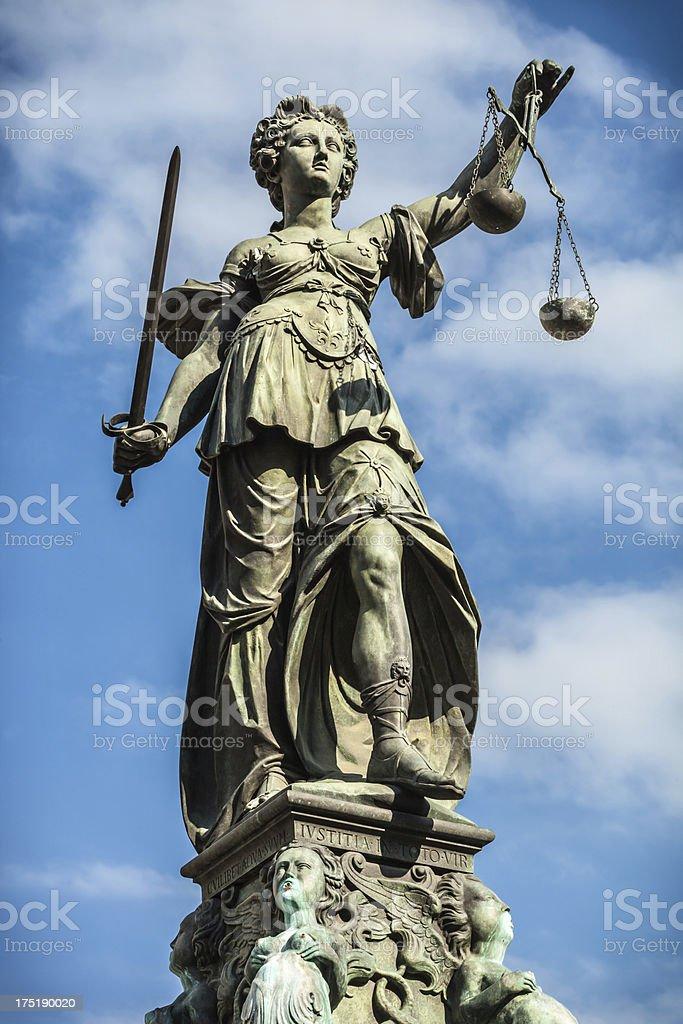 Lady Justice, Frankfurt royalty-free stock photo