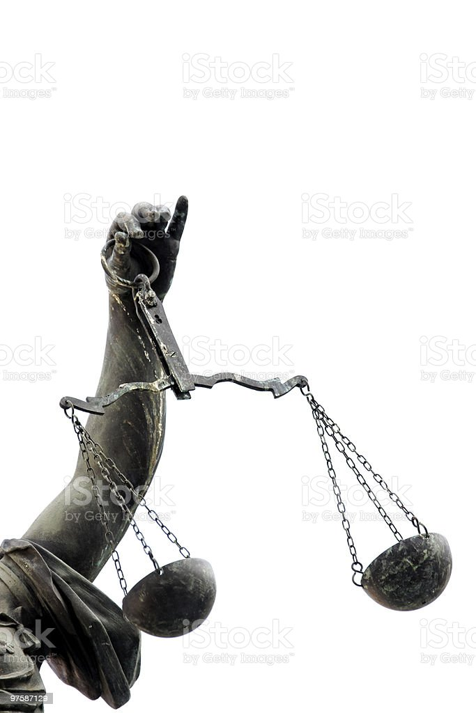 Lady Justice, Frankfurt royalty-free stock photo
