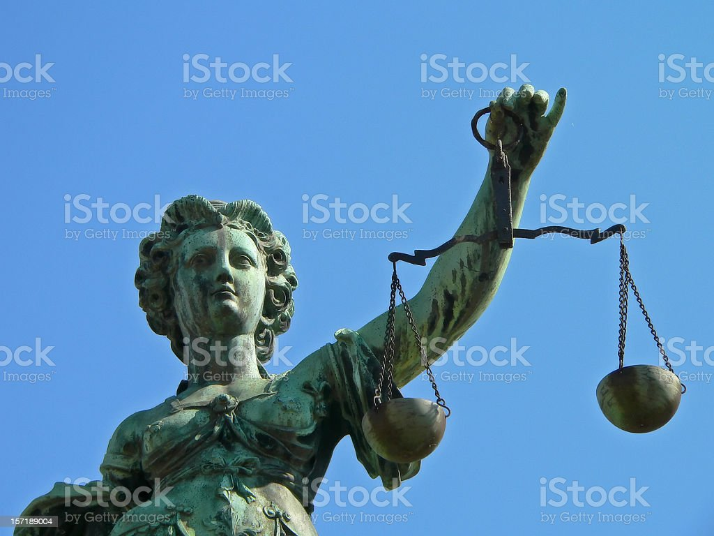 Lady Justice Justicia royalty-free stock photo