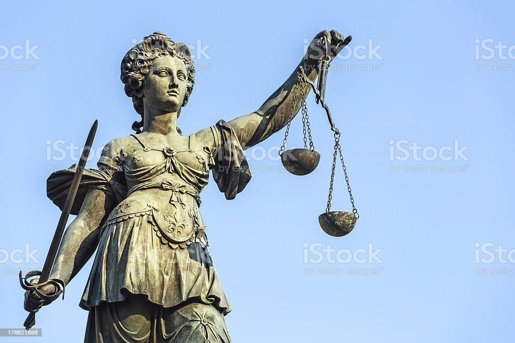 Lady Justice, Justicia royalty-free stock photo