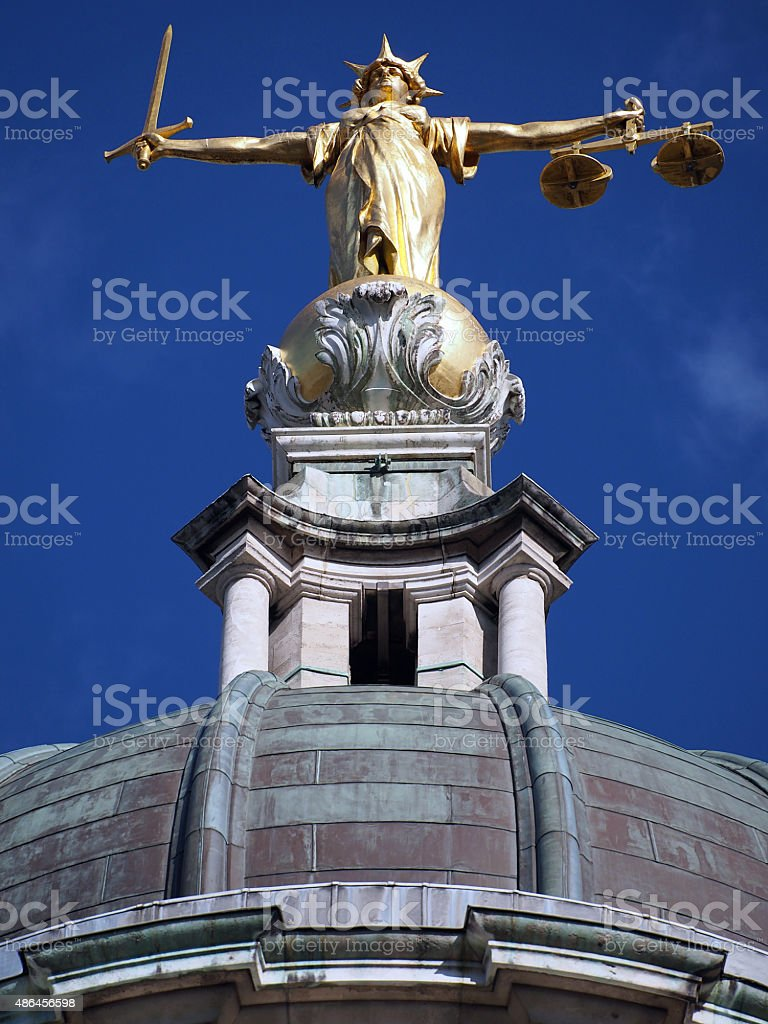 Lady Justice - Old Bailey 01 stock photo