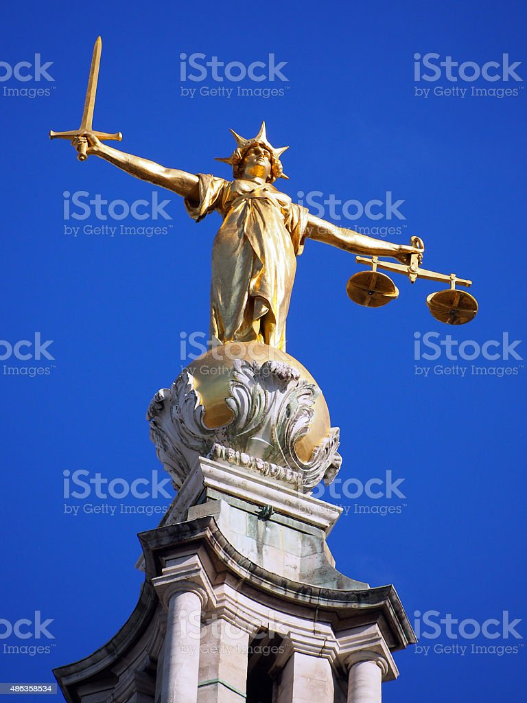 Lady Justice - Old Bailey 02 stock photo