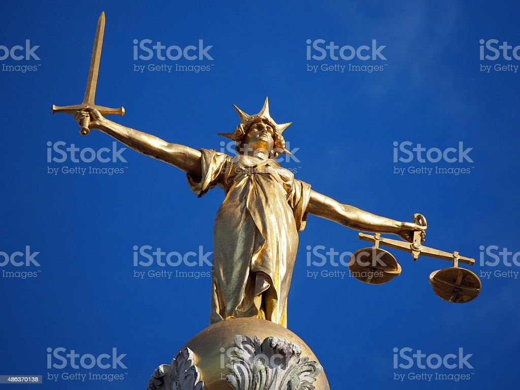 Lady Justice - Old Bailey 03 stock photo