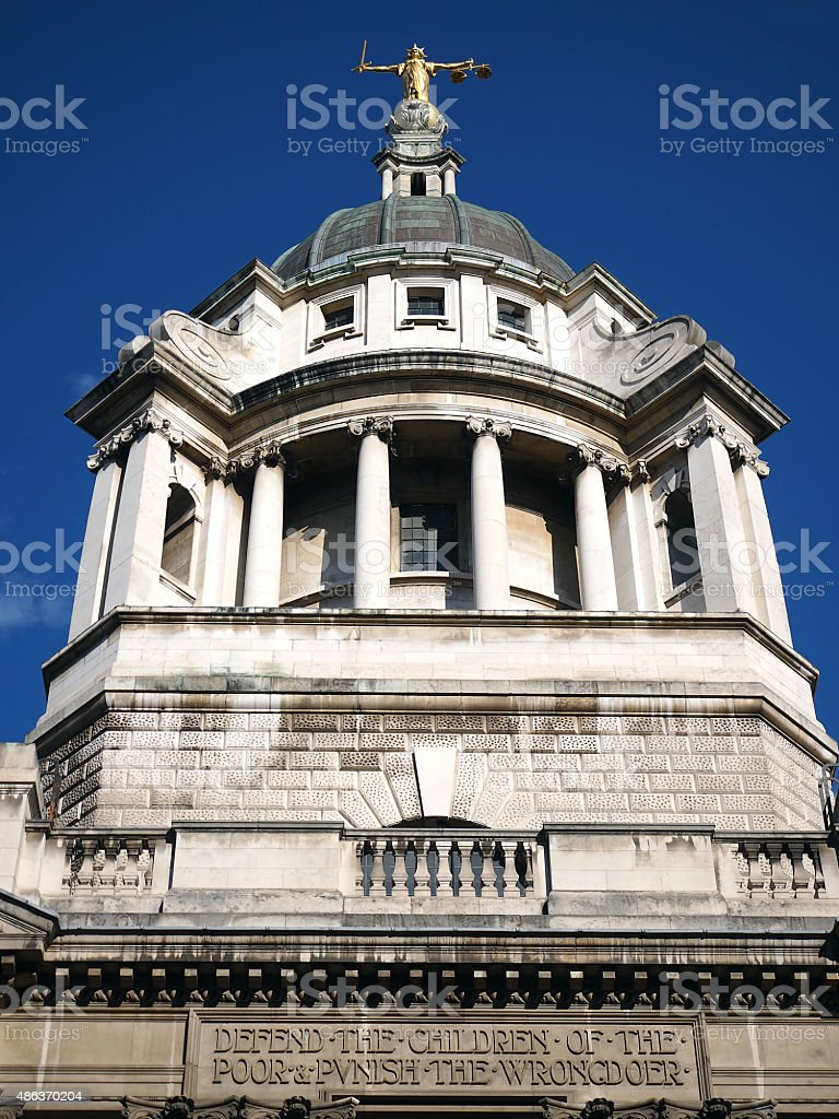Lady Justice - Old Bailey 05 stock photo