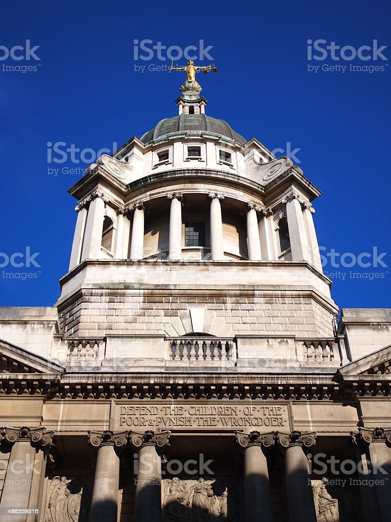 Lady Justice - Old Bailey 07 stock photo