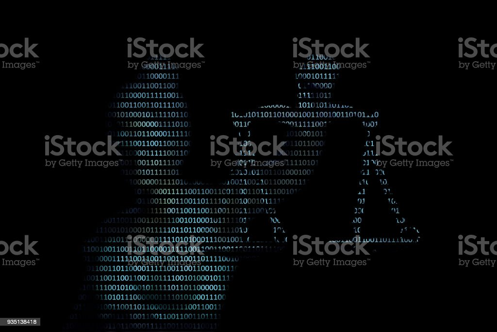 Lady justice on digital background (Concept of artificial intelligence lawyer) stock photo