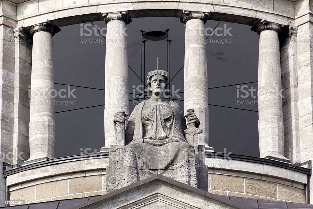Lady Justice on Her Throne royalty-free stock photo