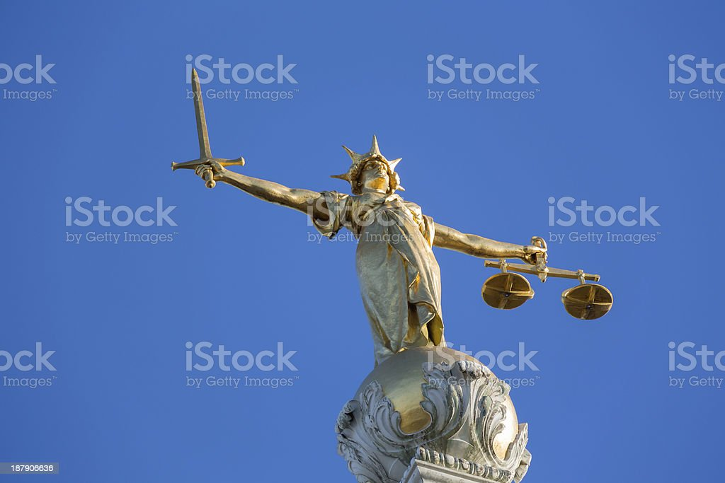 Lady Justice auf Old Bailey – Foto