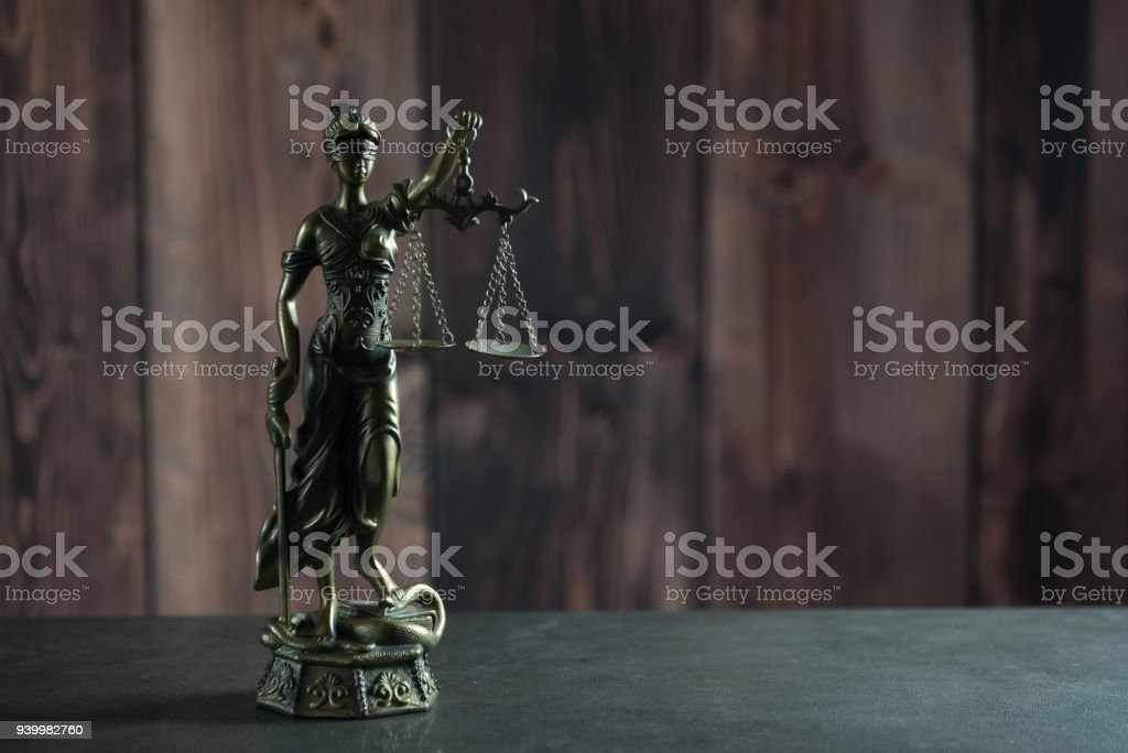 Lady justice, themis, statue of justice stock photo