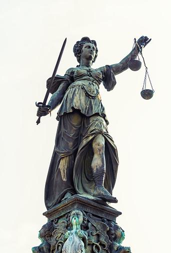 Lady Justitia Note: Justice fountain in Frankfurt, build 1887 by Friedrich Schierholz