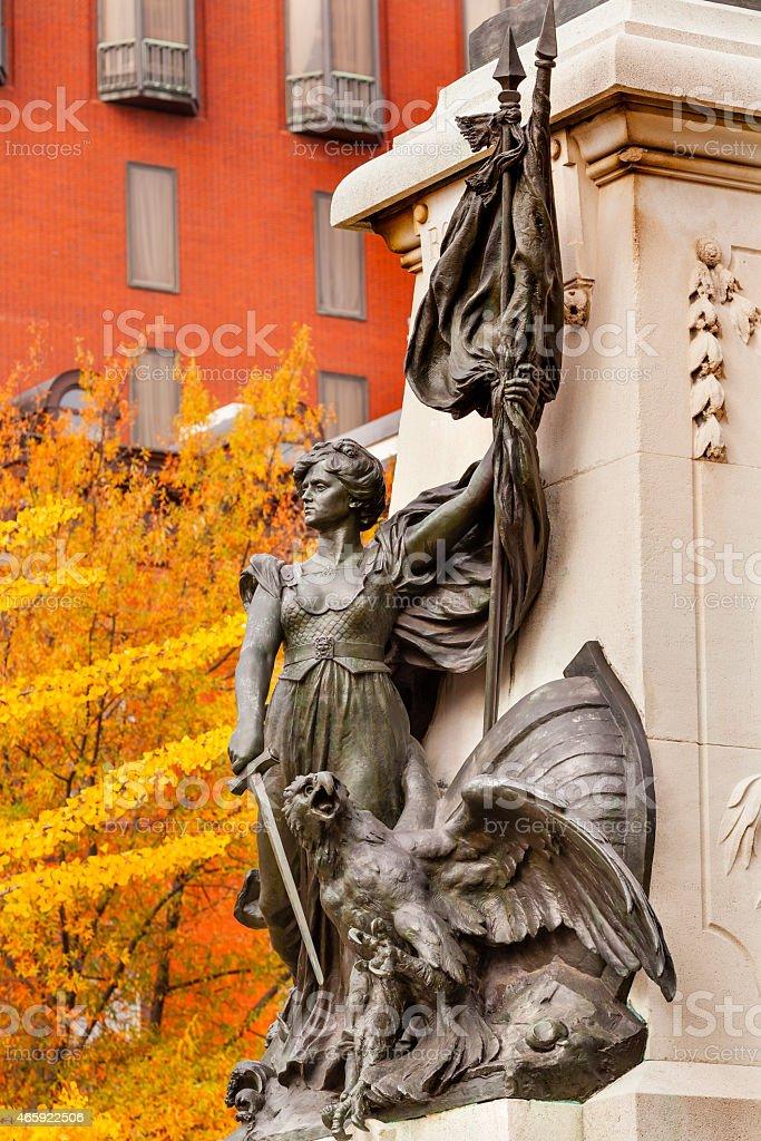 Lady Liberty General Rochambeau Statue Lafayette Park Washington Dc stock photo