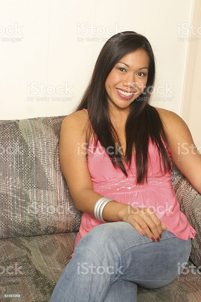 lady lounging around royalty-free stock photo