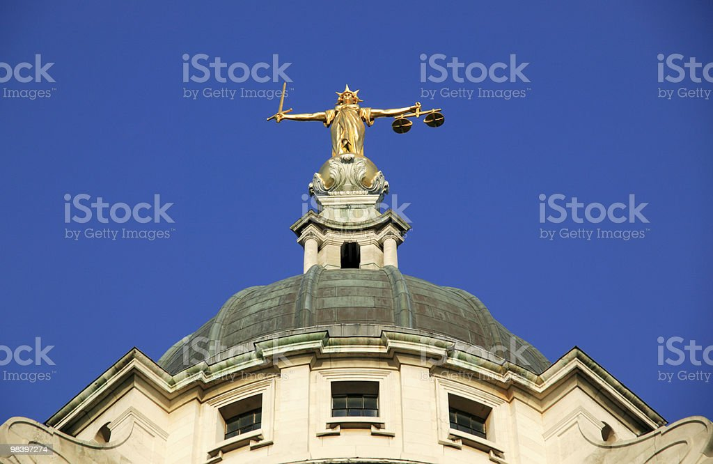 Lady of Justice Old Bailey royalty-free stock photo