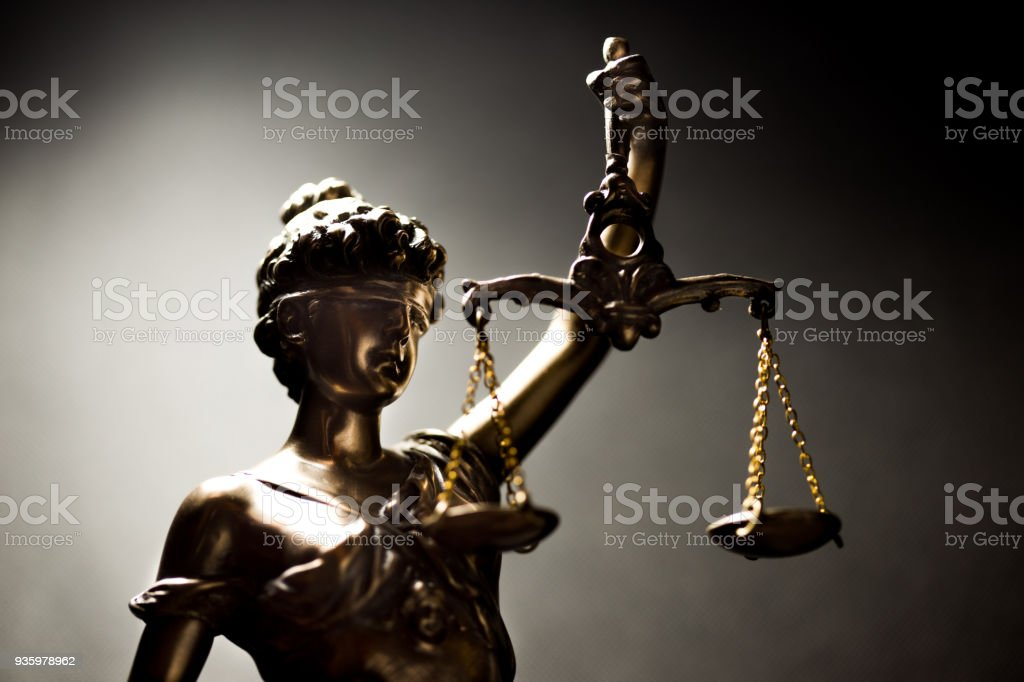 Lady of Justice or Themis (Symbol of justice) stock photo