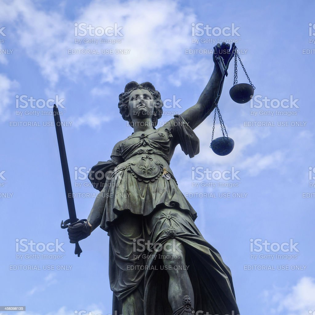 lady of justice royalty-free stock photo