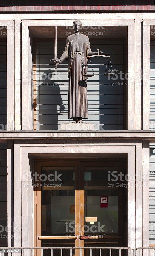 lady of justice - themis royalty-free stock photo