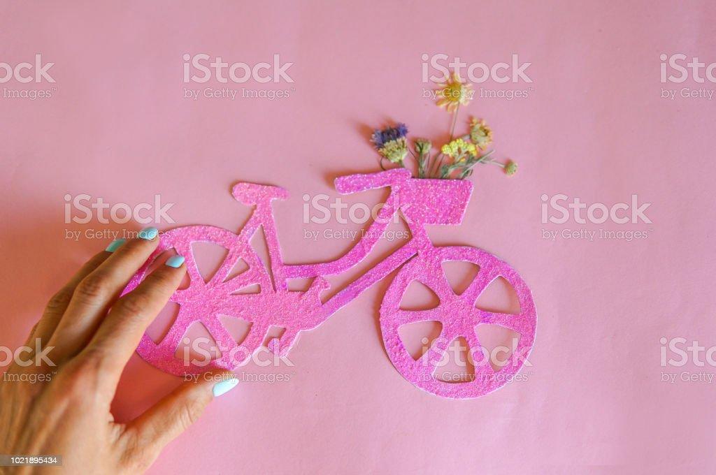 Lady on city bike concept стоковое фото