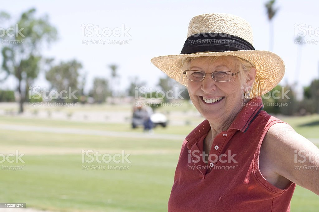 Lady on Golf Course royalty-free stock photo