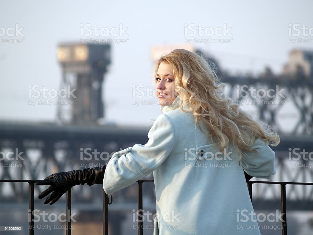 Lady on promenade royalty-free stock photo