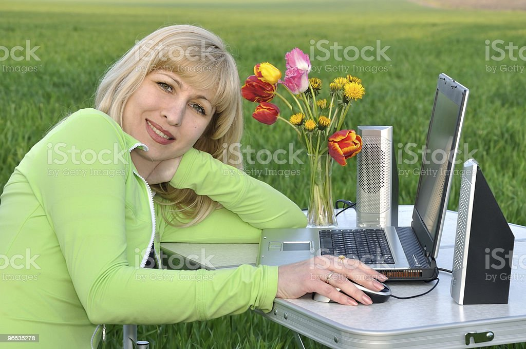 Lady on the nature royalty-free stock photo