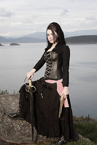 lady pirate - swashbuckler stock photos and pictures
