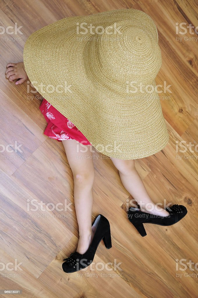 lady relaxing royalty-free stock photo