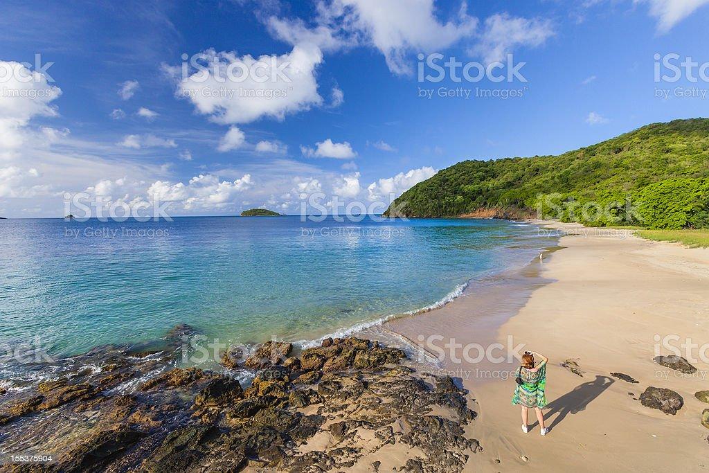 Lady Rock Bay, Mayreau royalty-free stock photo