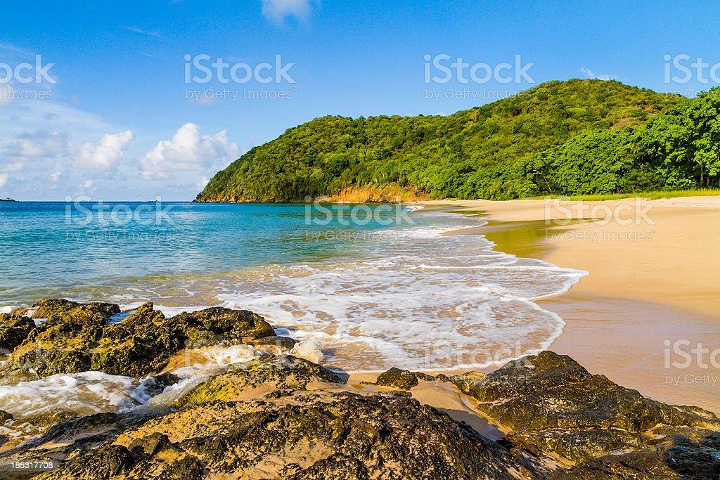 Lady Rock Bay, Mayreau stock photo