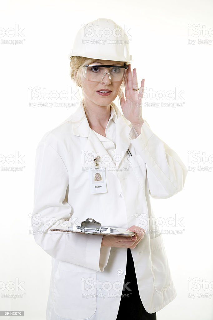 Lady science engineer royalty-free stock photo