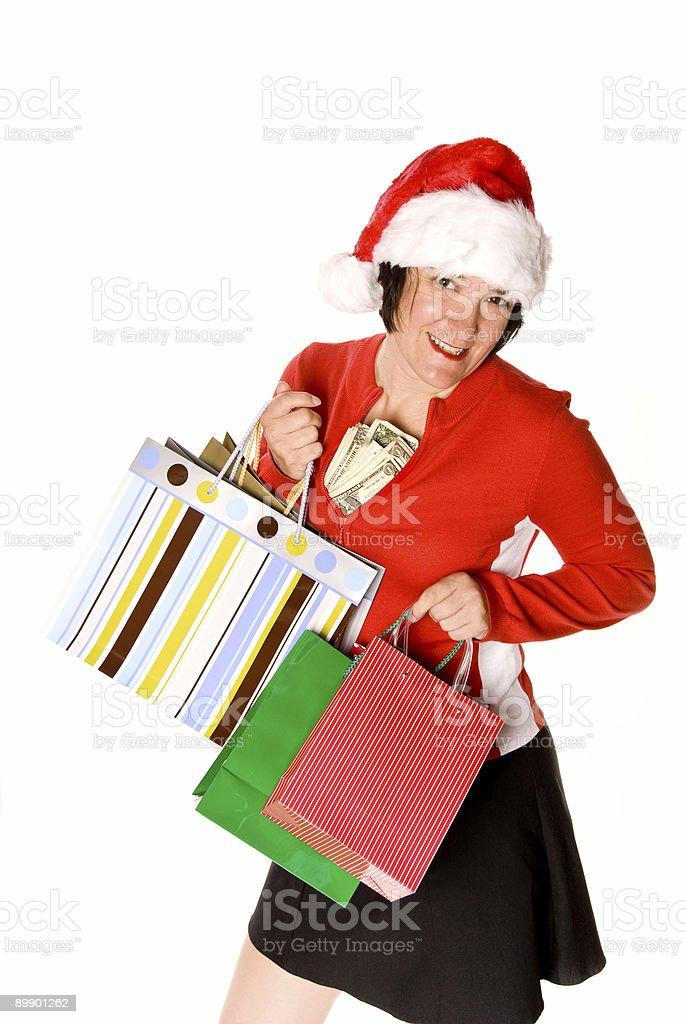 Lady shopping royalty-free stock photo