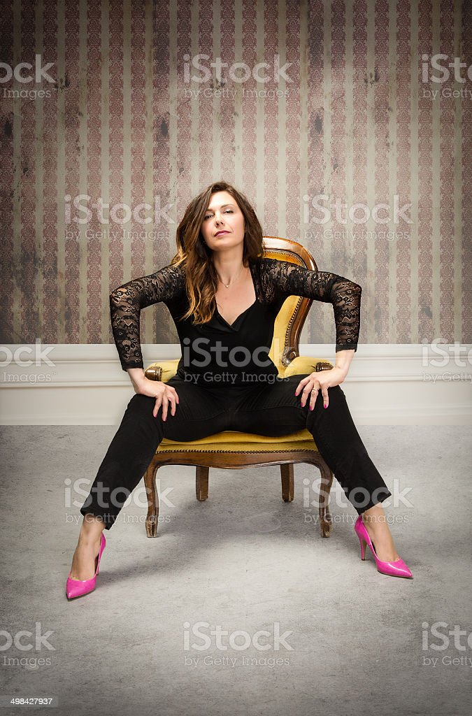 With woman their legs open sitting Illinois female