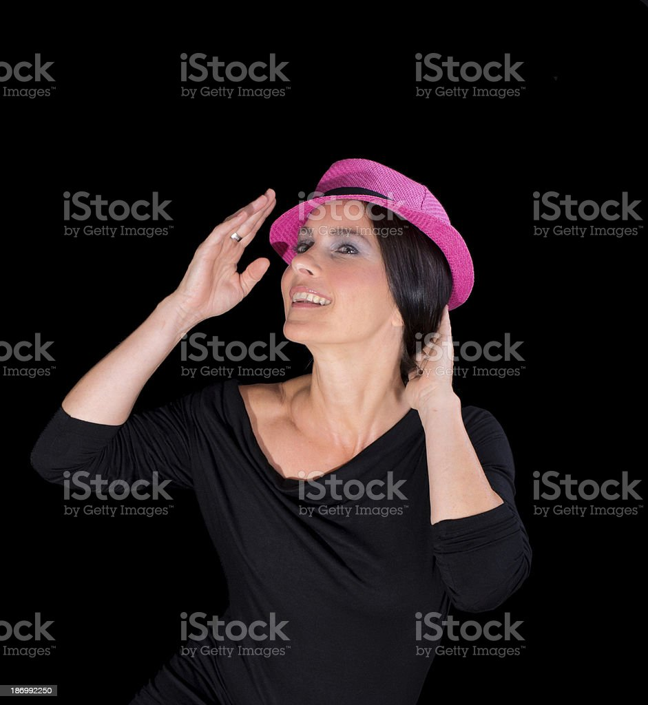 Lady with hat royalty-free stock photo