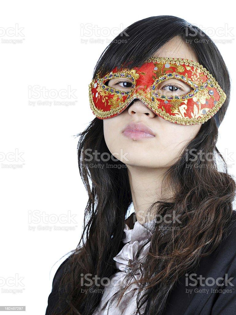 Lady With Mask - XLarge royalty-free stock photo