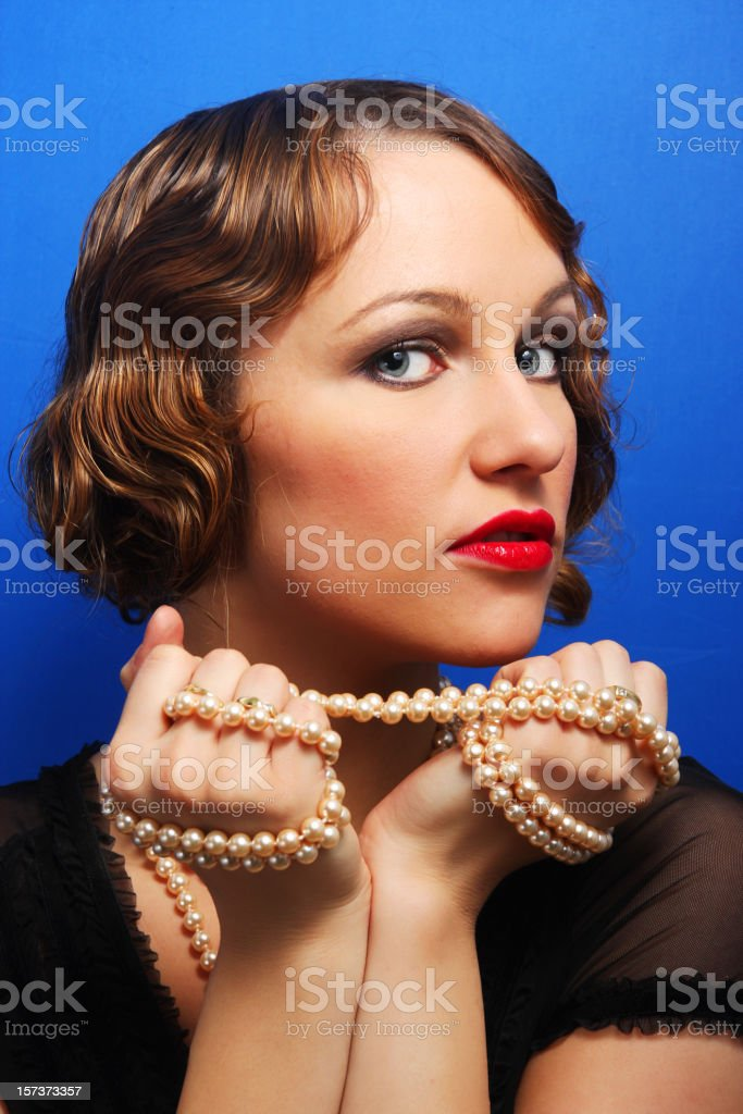 Lady with precious stones royalty-free stock photo