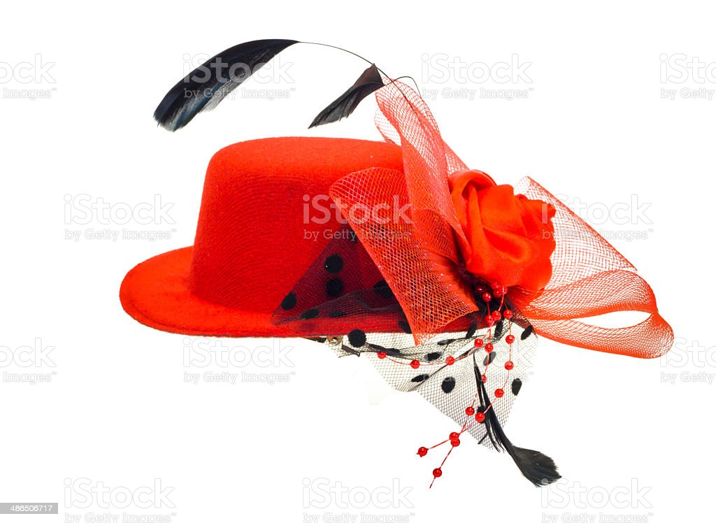 lady's hat isolated on a white background stock photo