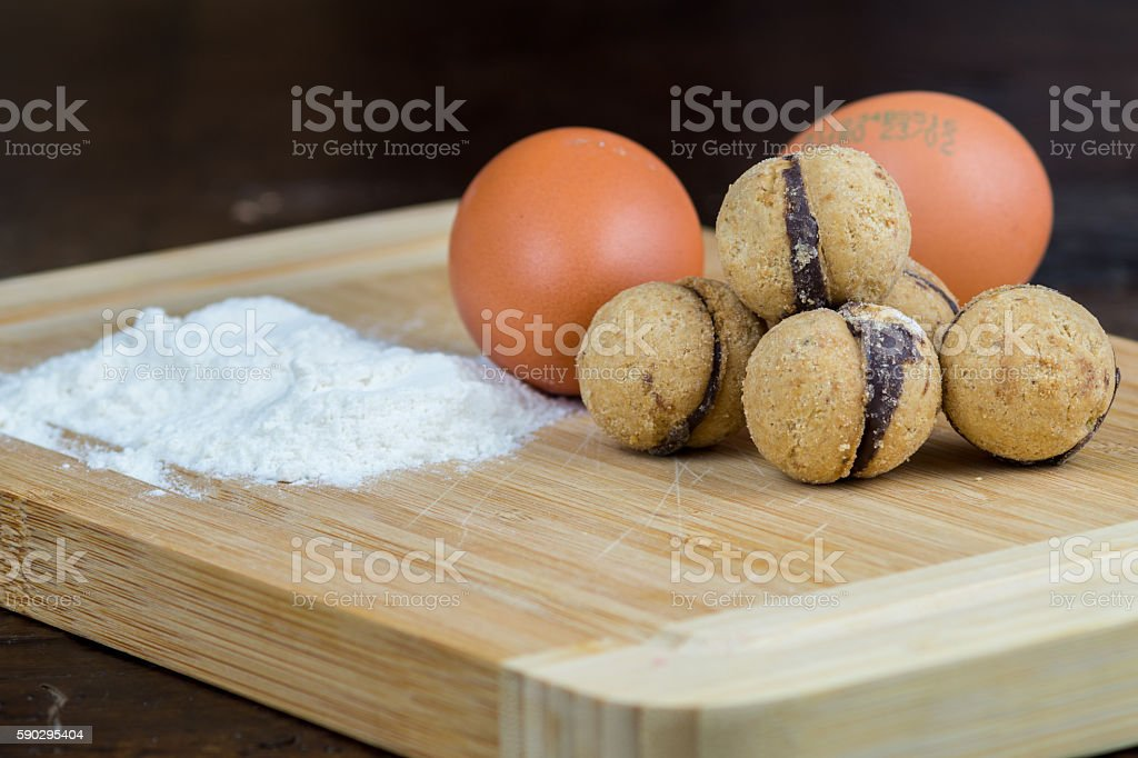 Lady's Kisses, homemade biscuits, cookies royaltyfri bildbanksbilder