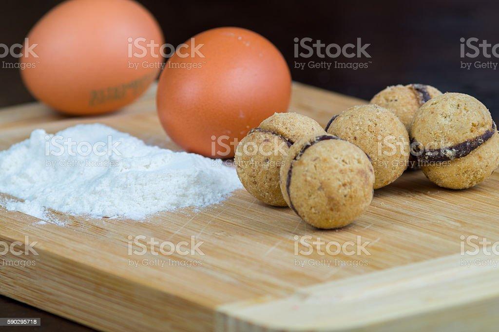 Lady's Kisses, homemade biscuits, cookies royaltyfri bildbanksbilder