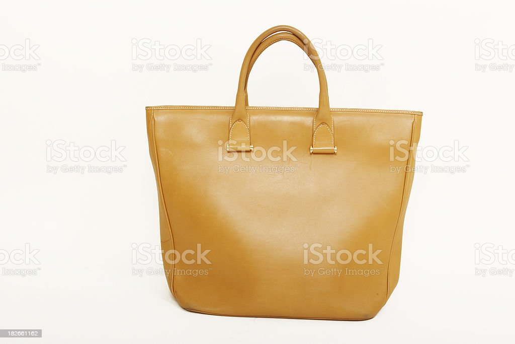 lady's leather bag stock photo