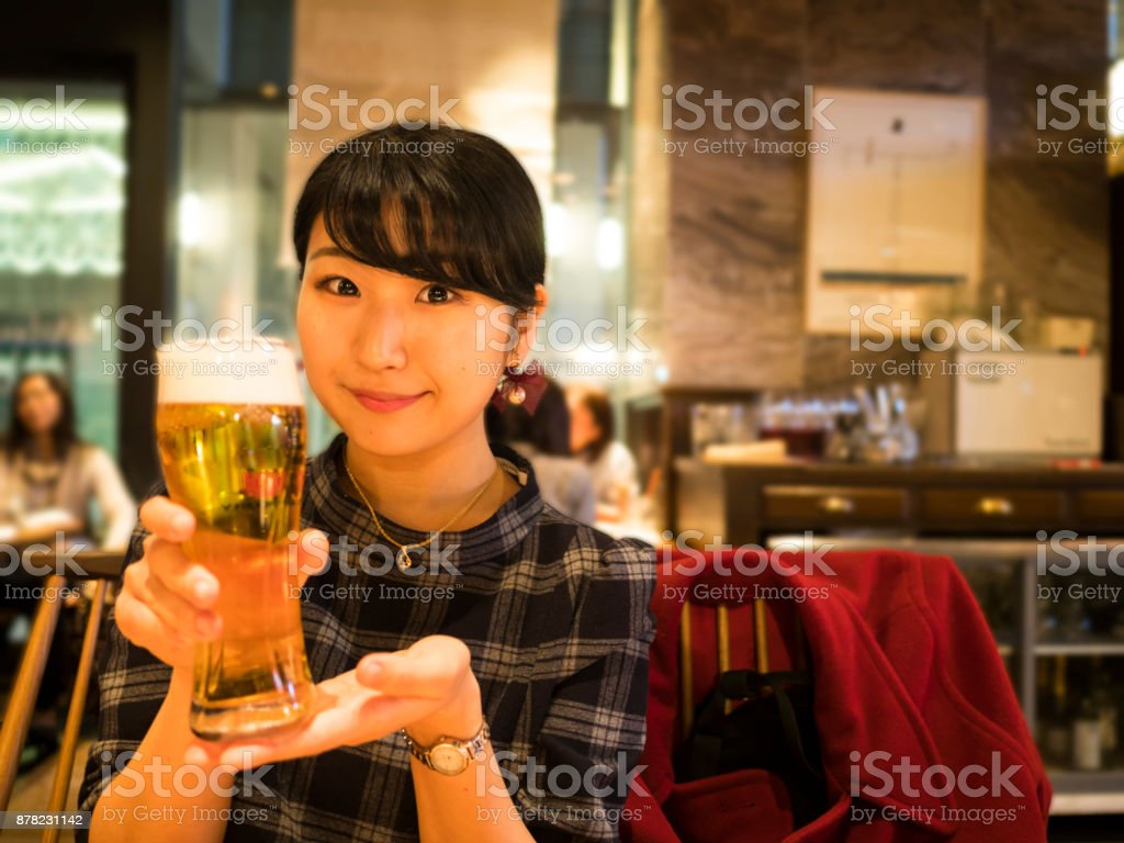 Ladys' night out after working. stock photo
