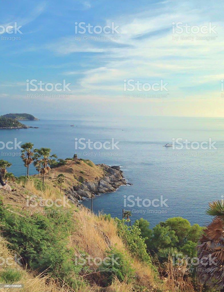 Лаем phrom thep острова Пхукет Таиланд, морской точки зрения Стоковые фото Стоковая фотография