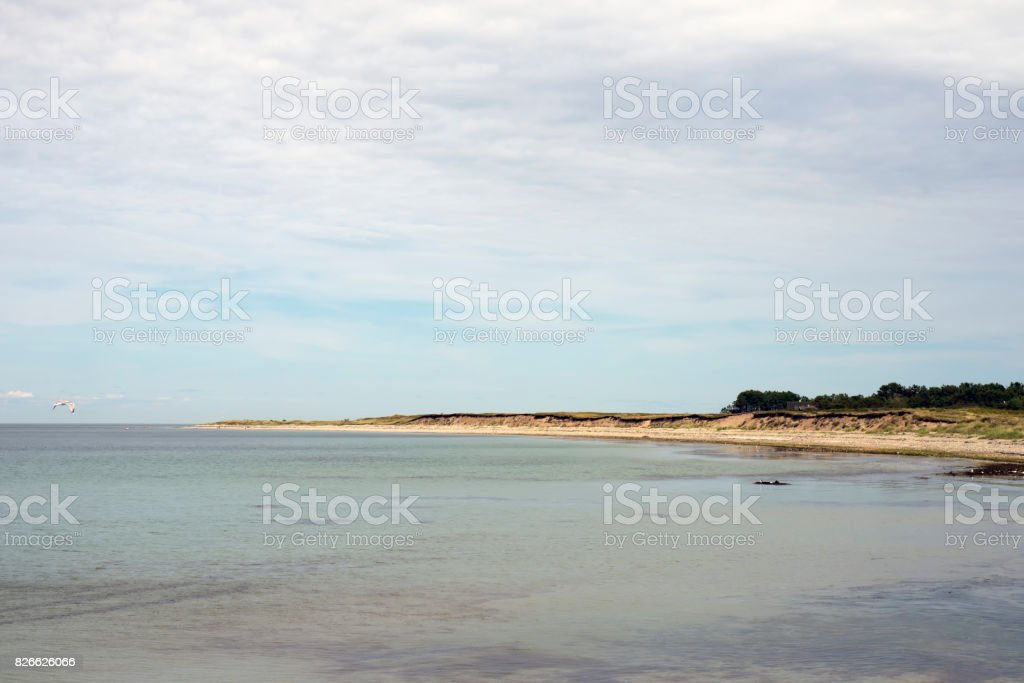 Laesoe island coastline stock photo