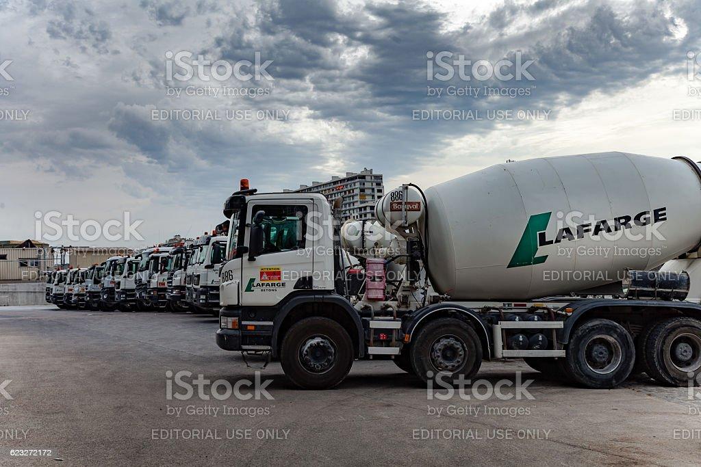 Lafarge infrastructure in Paris stock photo