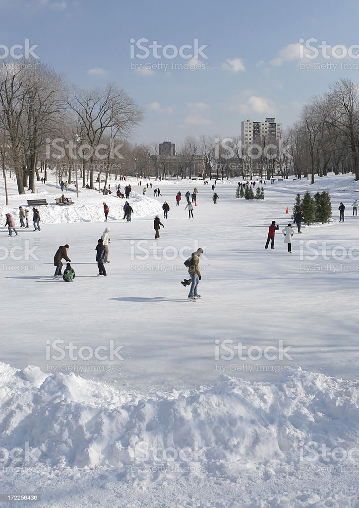 Lafontaine Park Ice Rink royalty-free stock photo