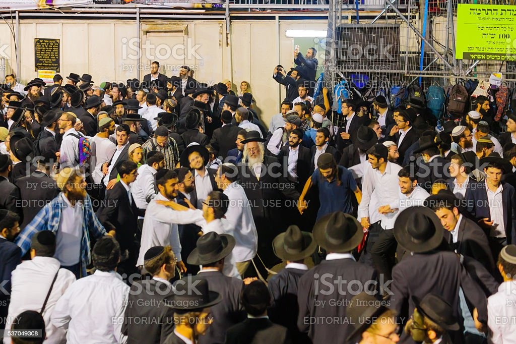 Lag BaOmer on Mount Meron 2016 stock photo