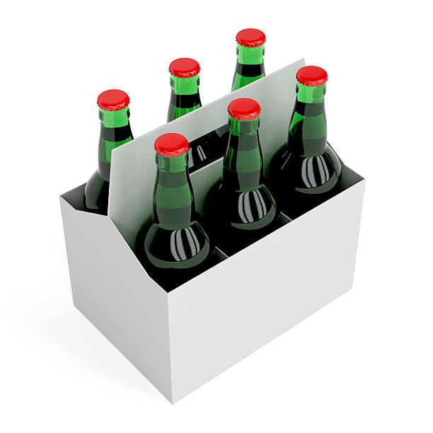 bouteilles de bière lager - pack de six photos et images de collection