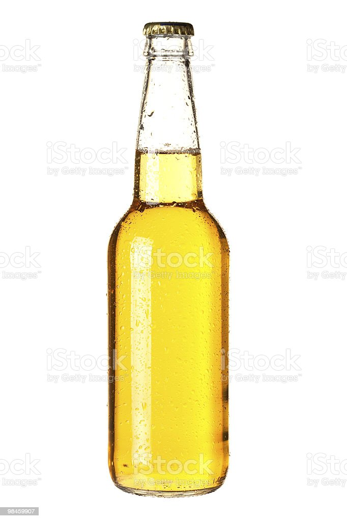 Lager beer in bottle royalty-free stock photo